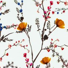 Úplet A0054 biely, žlté a červené kvety na stonkách, š.175
