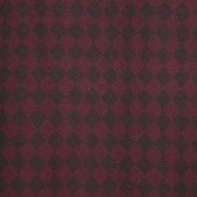 Kabátovina vínovo-čierna, kosoštvorec š.150