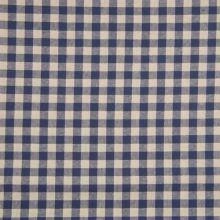 Kanafas krémovo-modrý, š.145