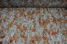 Krajka našívaná, zlatorezavá, š.145