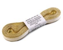 Stuha taftová biela + zlatý okraj, šírka 9mm, 10m