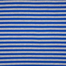 Úplet žebrový, modro-šedý proužek, 180g/m, š.145