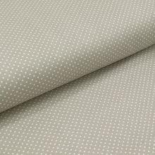 Bavlnené plátno svetlo šedé, biele drobné bodky, š.140
