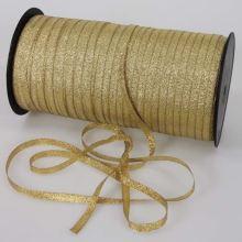 Stuha lurexová zlatá, šíře 7mm