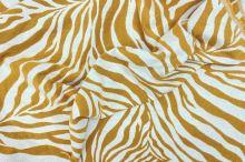 Dekorační látka krémovo-žlutá zebra, š.275