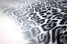Satén animal, šedo-čierne škvrny, š.150
