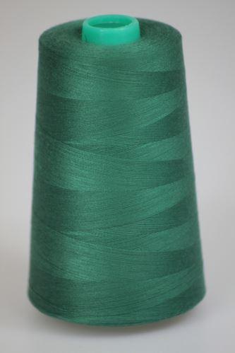 Niť KORALLI polyesterová 120, 5000, odtieň 6450, zelená