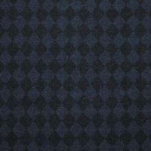 Kabátovina modročerná kosočtverec š.150