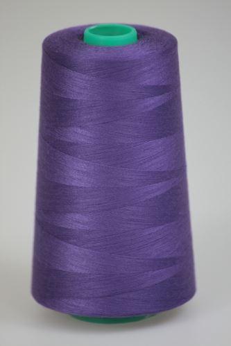 Niť KORALLI polyesterová 120, 5000Y, odtieň 4260, fialová