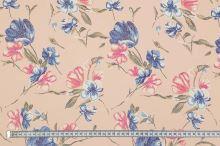 Šatovka broskvová, květinový vzor, š.145