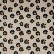 Fleece šedobéžový, okrovo-šedý zvířecí vzor, š.145