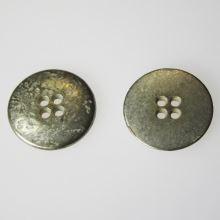 Knoflík stříbrný K36-15, průměr 23 mm.