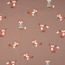 Teplákovina ružovohnedá počesaná, líšky, š.145