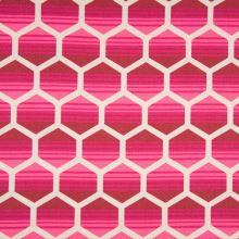 Dekoračný materiál, ružový geometrický vzor, š.150