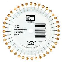 Špendlíky Prym s perleťovou hlavičkou, 0,65x38 mm, 40 ks