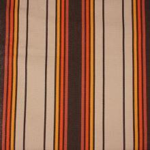 Lehátkovina béžová, oranžovo-hnědý pruh, š.37