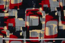 Úplet farebný 15362, šedo-červený vzor, š.145
