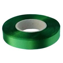 Stuha atlasová zelená, šíře 15mm