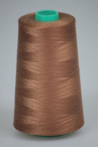 Nit KORALLI polyesterová 120, 5000Y, odstín 8320, hnědá