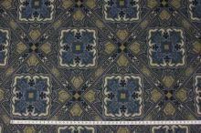 Úplet 16955, mordro-žlutý vzor, š.145