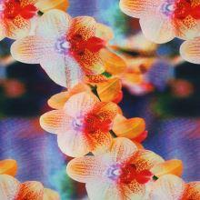 Úplet farebný, oranžovo-ružová orchidea, š.140