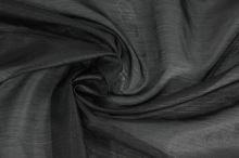 Organza černá pruh š.150