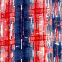 Úplet N5478, růžovo-modrý vzor, š.150