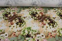 Bavlna 15806, vínovo-zelený kvet š.145
