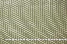 Šifón béžový, zamatové bodky, š.135