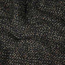 Kabátovina hnedo-čierna, žlté nopky š.155
