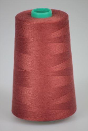Niť KORALLI polyesterová 120, 5000Y, odtieň 2820, ružová-hnedá