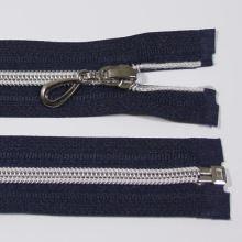 Zips špirálový 6mm dĺžka 55cm, farba 330 (deliteľný) so striebornými zúbkami