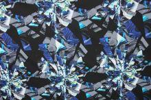 Bavlna modrý abstrakt š.145