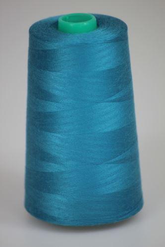 Niť KORALLI polyesterová 120, 5000Y, odtieň 5770, modrá