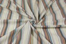 Košilovina krémová 09180, barevný pruh š.145