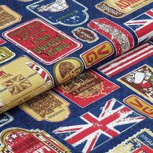 Bavlněné plátno, cedule a vlajky, š.140