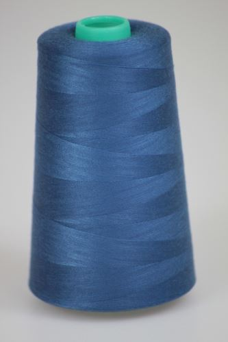 Niť KORALLI polyesterová 120, 5000Y, odtieň 5540, modrá