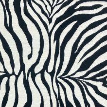 Dekoračná látka krémovo-čierna zebra, š.275