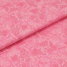 Bavlnené plátno svetlo ružové, vetvičky, š.140