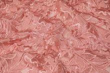 Tyl ružový s výšivkou, š.130