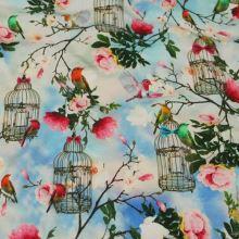 Úplet ptáci, květy a klece, š.160