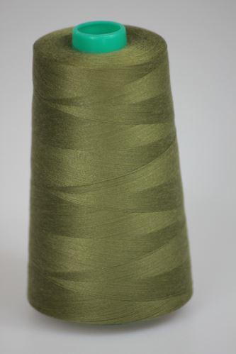 Niť KORALLI polyesterová 120, 5000, odtieň 6880, zelená