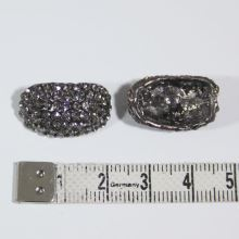 Gombík štrasový K19B, 15x22 mm