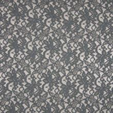 Čipka šedá, motív kvetov, š.145