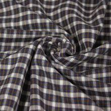 Košilovina bílá, modro-hnědé káro, š.150