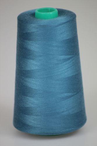 Niť KORALLI polyesterová 120, 5000Y, odtieň 5450, modrá