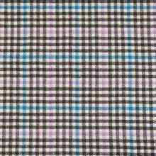 Kabátovina krémová, barevné káro, š.140
