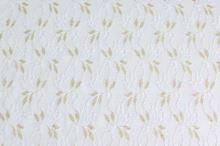 Krajka bílá, zlatý lurex š.125