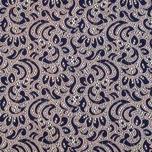 Čipka modro-ružová, š.145