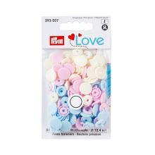 """Patentky Prym Love kulaté """"Color Snaps"""" 393007, 12,4 mm"""